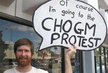CHOGM demo a precursor to the big show…in a roundabout way