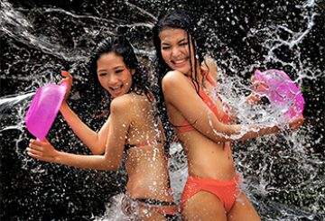 Soaking wet at Songkran